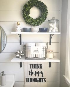 See this Instagram photo by @casa_williams • bathroom decor shelving above toilet