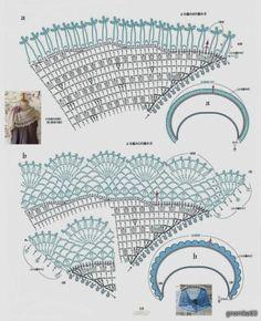 Crochet: BEAUTIFUL DELICATE SHAWL CAPE-