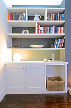 Alcove Fitted Shelving Unit : Tom Maxwell : Bespoke Joinery and Handcrafted Furniture @ Tom Maxwell : Cabinet Makers, Fitted Furniture, Freestanding Furniture, Leeds