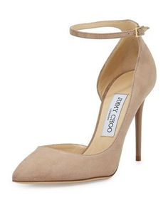 6d2efc16631fa Lucy Half-d  Orsay Suede Pump by Jimmy Choo at Neiman Marcus.