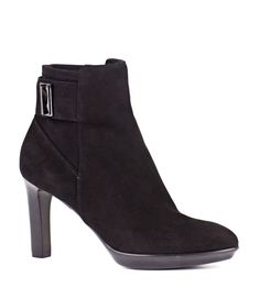 Suede zip ankle boot from Aquatalia for Edward Meller detailed with ankle strap and gunmetal hardware on a slight platform and slender heel for a look that's polished and refined. Shoes Online, Ankle Strap, Fashion Shoes, Footwear, Booty, Zip, Heels, Bags, Heel