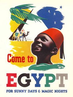 Come to Egypt - travel poster 1937 | by masterpieceart