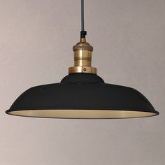 Buy Grey/Brass John Lewis Croft Collection Clyde Brass Trim Ceiling Pendant Light from our Ceiling Lighting range at John Lewis. Free Delivery on orders over Kitchen Lamps, Kitchen Pendant Lighting, Kitchen Pendants, Ceiling Pendant, Industrial Lighting, Room Lights, Hanging Lights, Ceiling Lights, Black Pendant Light