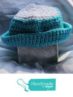 Turquoise and White Striped Crocheted Hat from Southern Women Crafts…