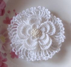 Larger Crochet Flower In 35 inches YH02403 by YHcrochet on Etsy, $4.99