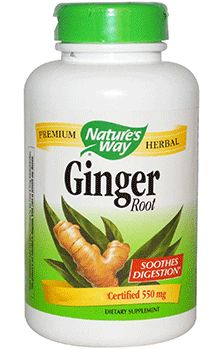 Ginger Root by Nature's Way (Ginger Supplement). The Power of Ginger for Nausea, Motion Sickness, and Digestive Upset*. Soothes digestion*.  Helps relieve nausea*. Helps most symptoms of indigestion*. Available at ProHealth.com ($7.49) #ProHealth