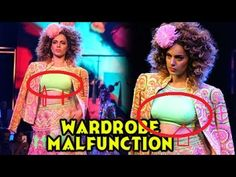 Kangana Ranaut Wardrobe Malfunction! At Blenders Pride Fashion Tour! Hyd...