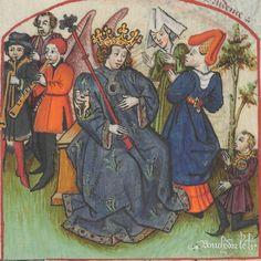 « Le Champion des Dames, » par « MARTIN LE FRANC, prevost de l'église de Lausane. » (1440).  Date d'édition :  1401-1500  Français 12476  Folio 5v
