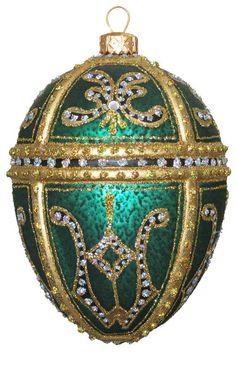 Edward Bar Kate Egg glass Christmas Ornament  $45.00 on eBay.