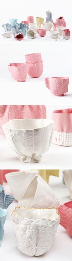 fabric or ceramic? ... ceramic! work by rachel boxnboim