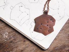Zodiac jewelry Leo copper constellation by AlexMalexDesigns