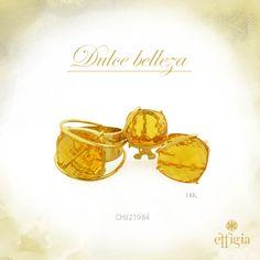 Effigia presenta este precioso juego de oro amarillo de 18 k con topacio amarillo. Luce hermosa y ¡Brilla con Effigia! #Topacio #Joyas