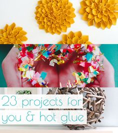 23 Projects For You And Hot Glue || TONS of great ideas here for you and your Arrow Fastener hot glue gun. Tackle wreaths, flowers and fashion with the help of a glue gun. www.arrowfastener.com/glueguns