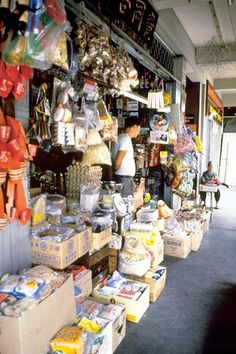 Chinese sundry shop in Singapore - 1983.
