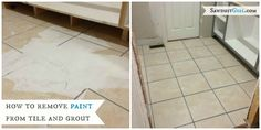 How to remove paint from grout and tile - sawdustgirl.com/