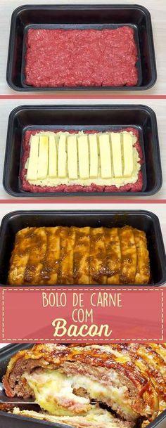 Para os amantes de Bacon, uma receita deliciosa de bolo de carne com Bacon