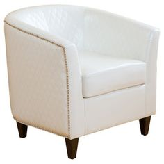 Mia Accent Chair in White -- not a good color for a house with kids though...