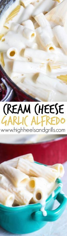 Cream Cheese Garlic Alfredo - The easiest alfredo I have ever made and tastes better than any restaurant alfredo!