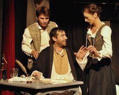Molière en discussion avec sa troupe : Charles La Grange et Catherine de Brie