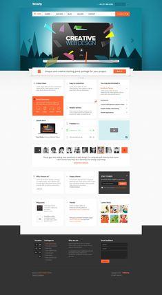 Smarty - Business Portfolio for Creative Agencies by Nicola Mihaita, via Behance