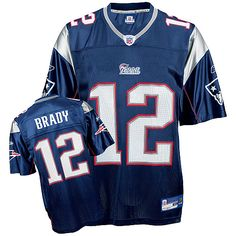 Reebok New England Patriots Tom Brady 12 Blue Replica Jerseys Sale
