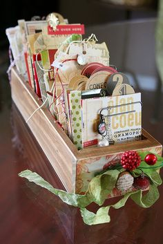 Christmas Memories Librarie Drawer by Ranjini by 7gypsies, via Flickr