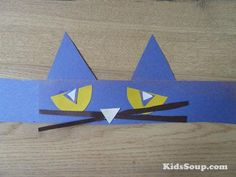 making Pete head bands - for when we do the song and cd ? Back to School with Pete the Cat | KidsSoup Pete The Cat Art, Cat Activity, Cat Birthday, Back To School Crafts, School Fun, School Stuff, Preschool Lessons, Preschool Art, Cat Crafts