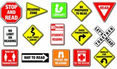 Carson Dellosa Reading Road Signs Bulletin Board Set This fun, reading-themed bulletin board set includes: 18 signs (largest approx. x 33 bookmarks Construction Theme Classroom, Classroom Themes, Classroom Supplies, Preschool Classroom, Classroom Organization, Kindergarten, Reading Library, Student Reading, Reading 2016
