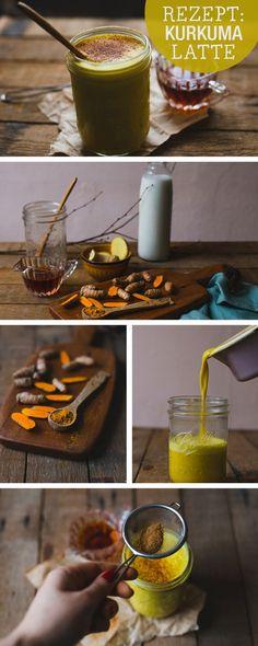 Gesundes Rezept: Kurkuma Latte selbermachen, Superfood / healthy recipe: latte with curcuma, superfood, clean eating via DaWanda.com
