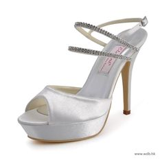 "rustic weddin Charming 5"" Rhinestones & Peep-toe Sandals - White Casual shoes (11 colors) $79.98"