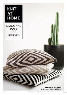 15-13 DIAGONAL PUTE | free knitting pattern | knitted pillow | knitted interior | knitting pattern