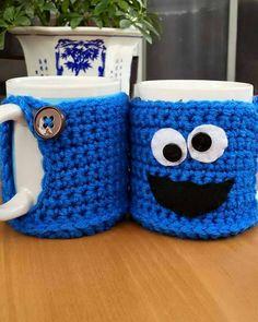 This item is unavailable - crochet mug cozy Crochet Coffee Cozy, Coffee Cup Cozy, Crochet Cozy, Crochet Gifts, Coffee Cozy Pattern, Crochet Hello Kitty, Crochet Stitches, Crochet Patterns, Crochet Supplies
