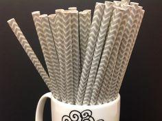 Silver & white chevron paper straws   #silver #white #chevron #paper #straws #silverstraw #partyessentials #essentials #partysupplies #party #supplies #fortlauderdaleinvitations