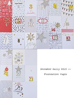 December Daily 2015 foundation pages by stampincrafts at @studio_calico