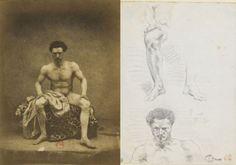 Eugène Durieu - référence modèles pour dessins de Delacroix Ferdinand, Greek, Statue, Illustration, Photography, Painting, Art, Daguerreotype, Impressionism