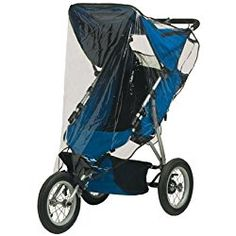 Jolly Jumper Single Jogging Stroller Weathershield Blue
