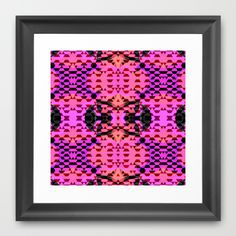 Pink Tribomb Framed Art Print