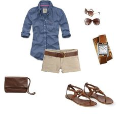 I need a denim shirt??? I just bought some tan bermuda shorts... time to learn how to be stylish in them!