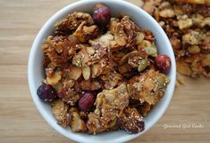 Gourmet Girl Cooks: Coconutty Cranberry-Apple Granola -- Grain Free Would be great for travelling on a plane Paleo Recipes, Low Carb Recipes, Real Food Recipes, Cooking Recipes, Free Recipes, Low Carb Breakfast, Breakfast Recipes, Clean Eating, Healthy Eating