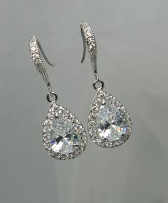 Crystal Bridal earrings  Wedding jewelry by CrystalAvenues on Etsy, $34.00