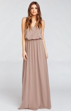 Kendall Maxi Dress ~ Dune Chiffon