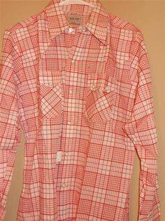 Washington Dee Cee Pearl Snaps Check Shirt w/ Tags New 15.5 34 Free Shipping