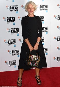 Classy lady: Helen Mirrenwas the epitome of pure elegance as she attended the star-studded photocall for her upcoming movie, Trumbo, during the 59th BFI London Film Festival on Thursday