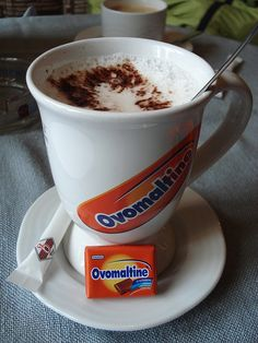 "The chocolate drink Ovomaltine (known in the USA as ""Ovaltine"") originates in Switzerland and enjoys ongoing popularity, particularly with young people. Aside from being a beverage, the powder is also eaten sprinkled on top of a slice of buttered bread. Swiss Chocolate, Chocolate Malt, Winterthur, Zermatt, Switzerland Bern, Swiss Miss, World Thinking Day, Malted Milk, Alps"