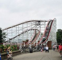 Kennywood park - The Thunderbolt (my favorite roller coaster, anywhere!) When I was a kid, it was The Pippin.