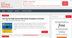 High schools today give students a greater number of choices than used to be available... http://www.topmathbooks.com/