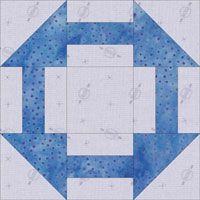 Crow's Nest quilt block design