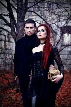 Gothic couple Check out freaky horror story on tinder here: https://www.youtube.com/watch?v=izFuYvbilmw