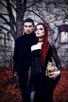 Gothic couple Check out freaky horror story on tinder here: https://www.youtube.com/watch?v=izFuYvbilmw