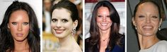 These women look freaky without their eyebrows - eyebrows really make the face don't they!
